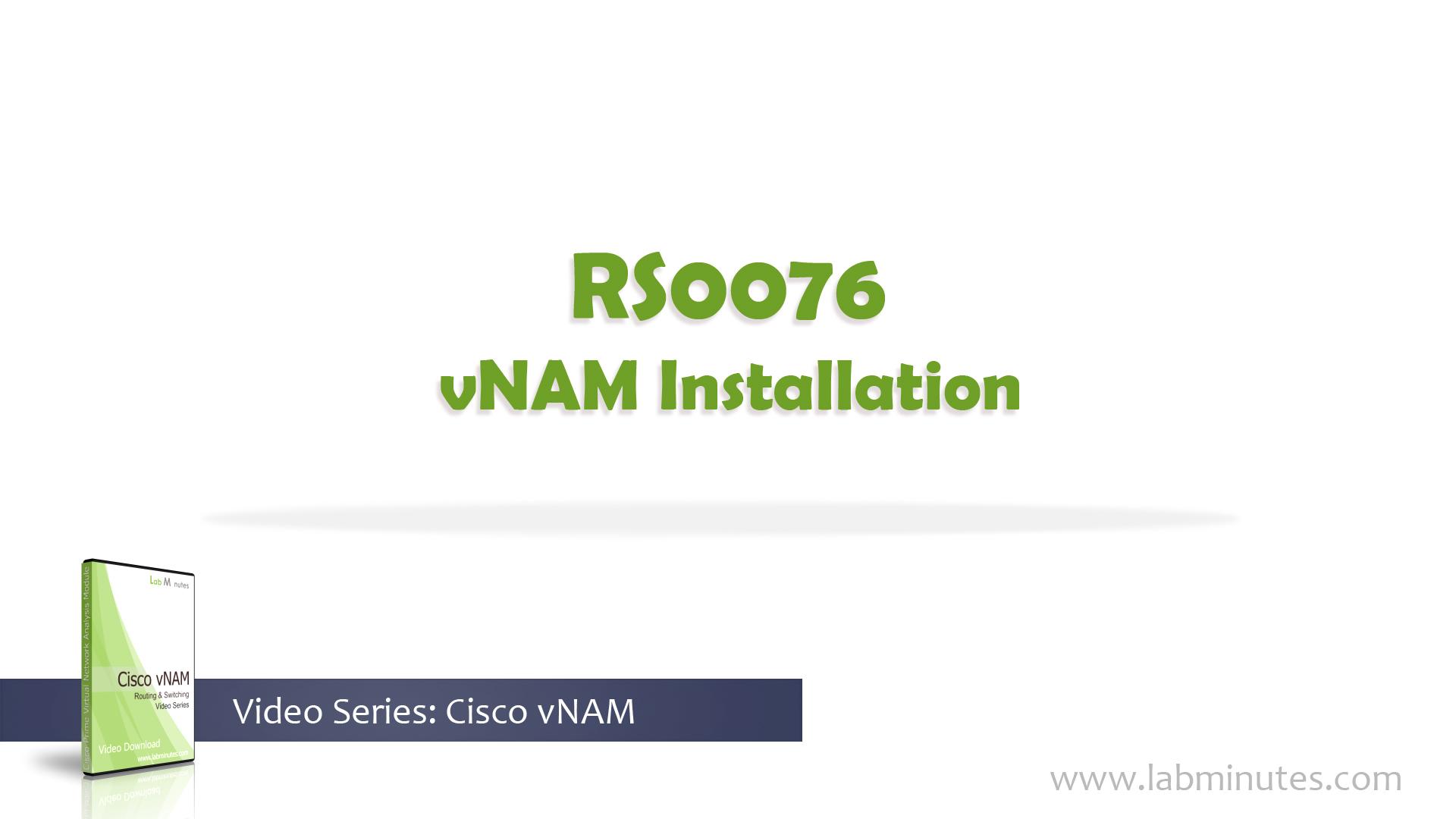 How to Install Cisco vNAM
