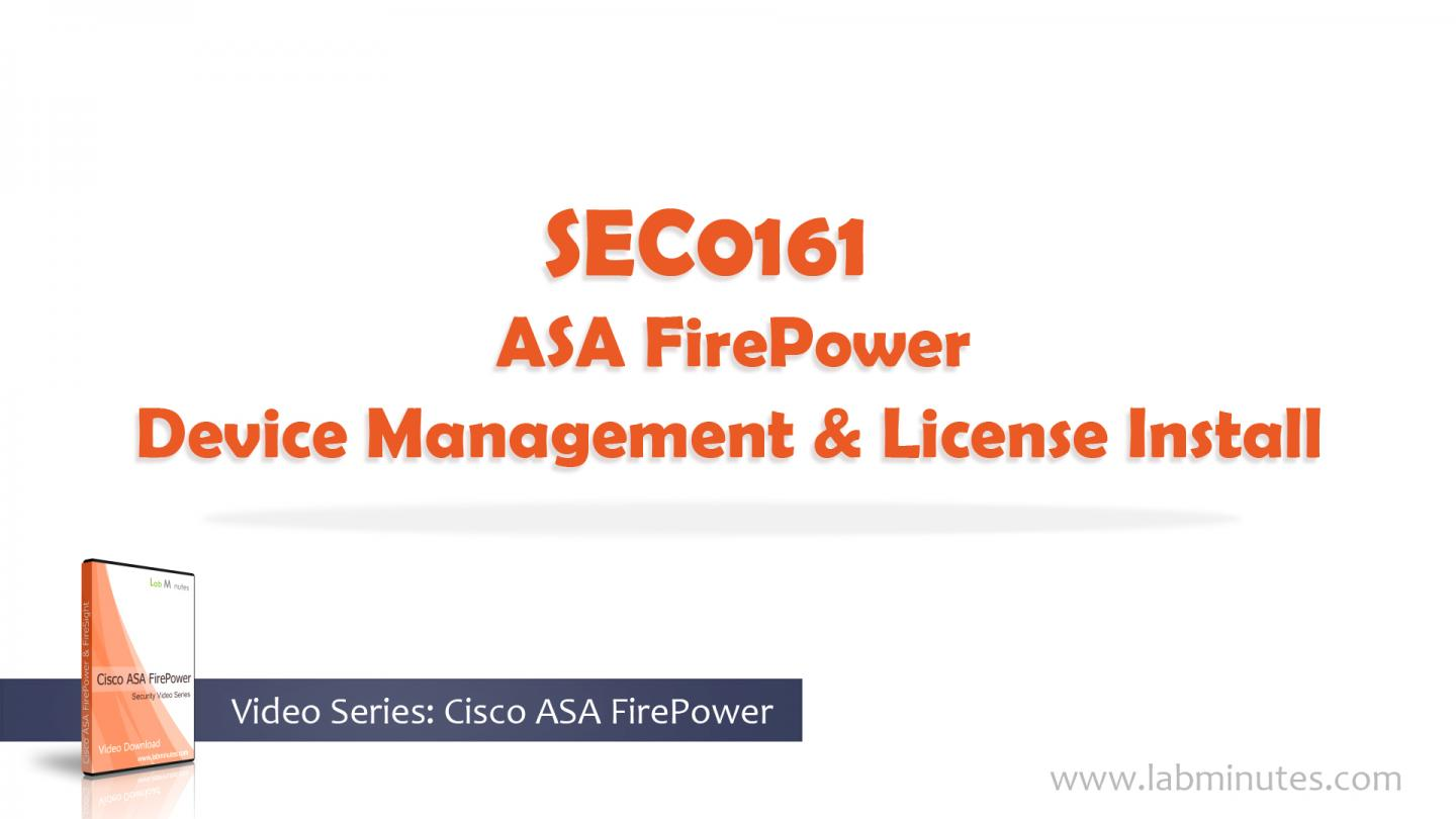 How to Configure Cisco ASA FirePower Device Management and